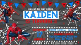 KAIDENS BDAY INVITATION