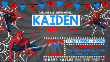 KAIDENS BDAY INVITATION